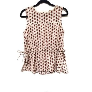 2for$30!!Ivory printed sleeveless top size M